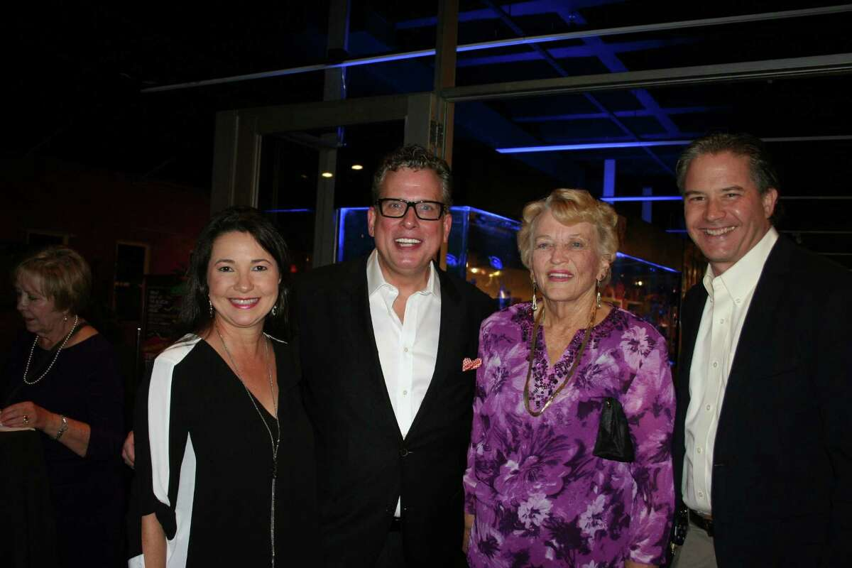 Celebrating a great concert and a grand evening were, from left, Jackie Kerstetter, Billy Stritch, his mother, Jane Streich (Billy changed the spelling when he went to New York) )and Don Kerstetter. The Kerstetters' business, Classic Chevrolet, has been at the forefront of support for the Sugar Land Cultural Arts Foundation.