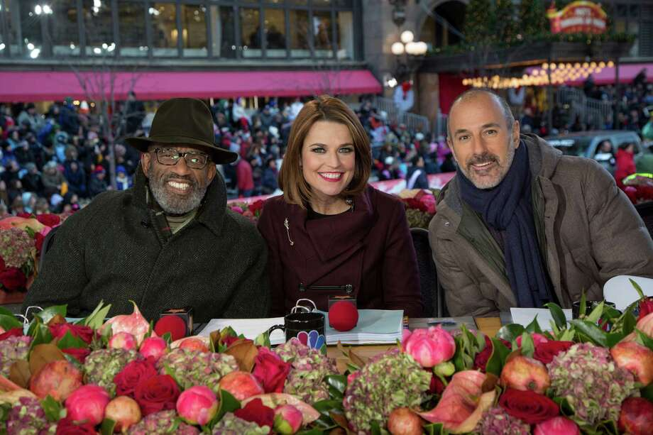 'Macy's Thanksgiving Day Parade' will air on Nov. 27, 2014 on NBC and be hosted by (l-r) Al Roker, Savannah Guthrie, Matt Lauer. MACY'S THANKSGIVING DAY PARADE -- Season 87 -- Pictured: (l-r) Al Roker, Savannah Guthrie, Matt Lauer -- (Photo by: Eric Liebowitz/NBC) Photo: Eric Liebowitz/NBC / NBC / 2013 NBCUniversal Media, LLC.
