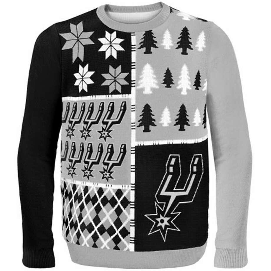 New this year and just in time for the holidays is the San Antonio Spurs Ugly Sweater, available exclusively on Fanatics.com. Photo: Fanatics.com,  Courtesy