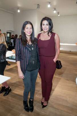 Rebecca Minkoff and Libby Leffler at the opening celebration for Minkoff's San Francisco store on November 19, 2014.