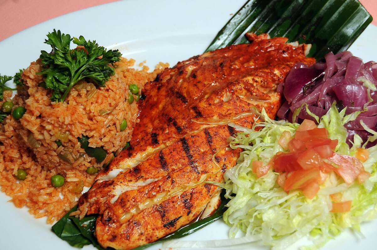 The Mahi-Mahi crusted with the house spice blend at the new Pico's Mex-Mex restaurant on Kirby at Richmond .(Dave Rossman photo)