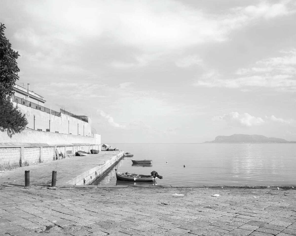 "John Riddy set up his camera seaside for ""Palermo (Caletta San Erasmo)."""