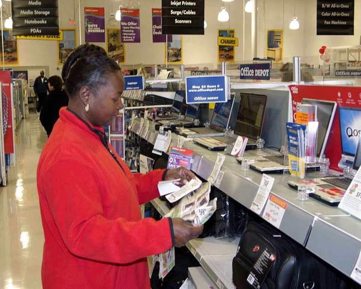 No. 1 in Phones Office Depot and Office Max's average discount is 40.63 percent.