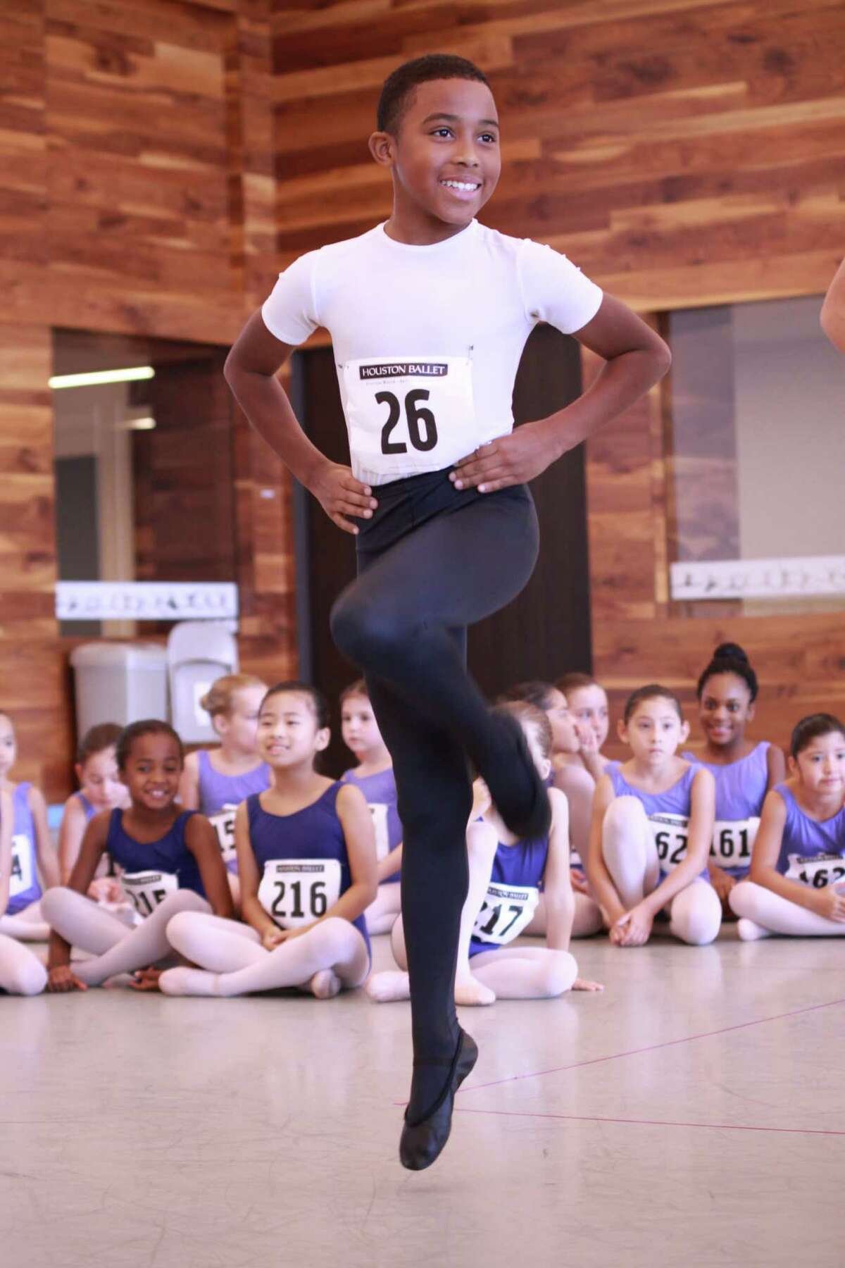 """Houston Ballet Academy students recently auditioned for Houston Ballet's production of """"The Nutcracker."""" Michael Amoky, 10, was selected to dance the role of one of the party boys. Houston Ballet Academy students recently auditioned for Houston Ballet's production of """"The Nutcracker."""" Michael Amoky, 10, was selected to dance the role of one of the party boys."""