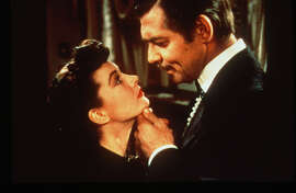 "Vivien Leigh and Clark Gable in ""Gone With the Wind."""