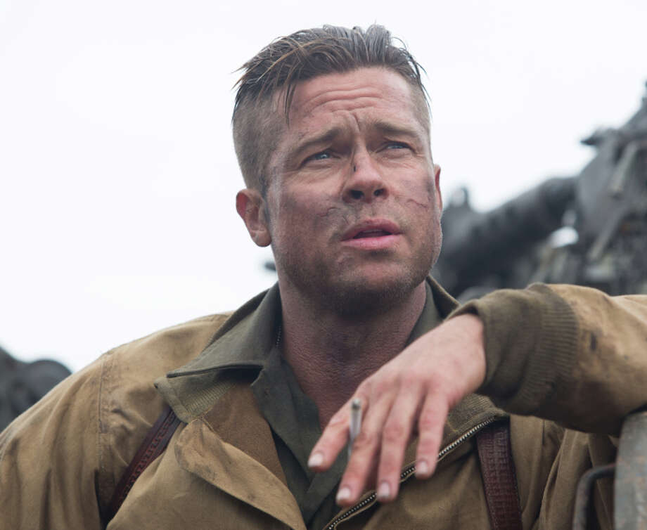 """Wardaddy (Brad Pitt) leads his tank crew through Germany at the end of World War II in """"Fury."""" Photo: Handout / McClatchy-Tribune News Service / MCT"""