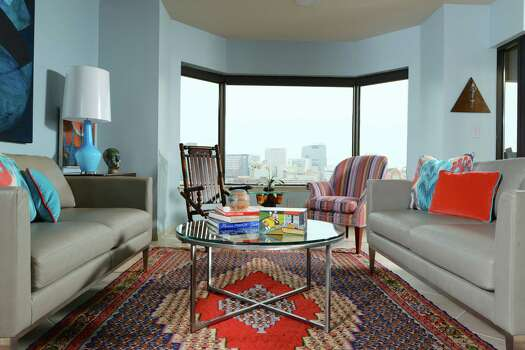 Couple S Houston High Rise Condo Is Filled With Color Art
