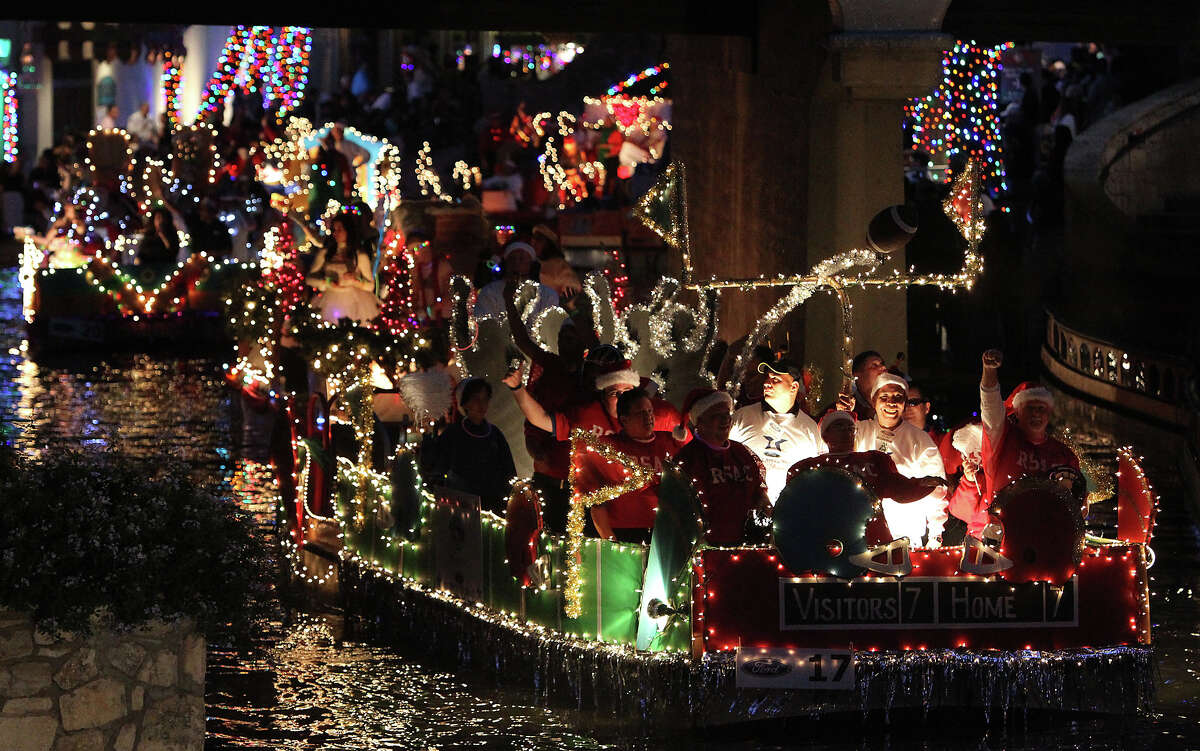 The Ford Holiday River Parade and Lighting Ceremony takes place along the River Walk in San Antonio Nov. 28.