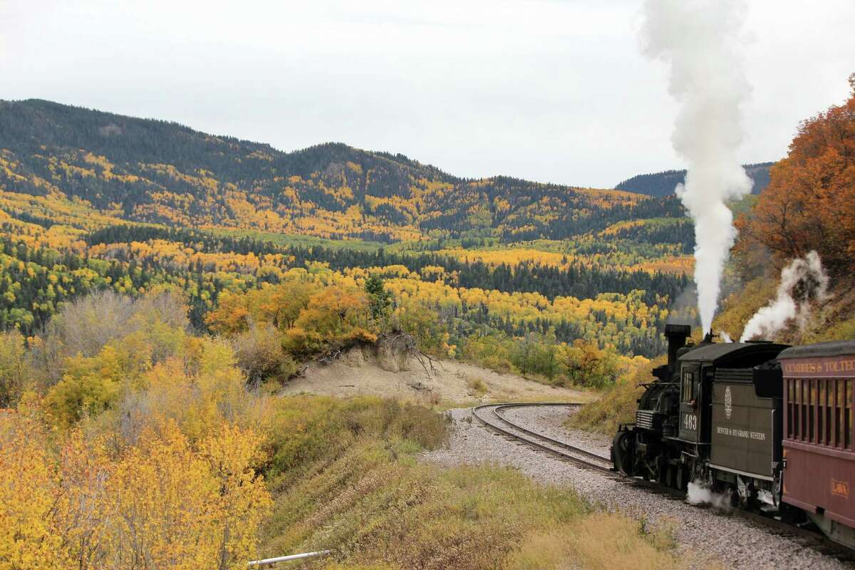 Chronicle reader Carl Aimone of Tomball took this vacation photo on the Cumbres & Toltec Scenic Railroad from Antonito, Colo. to Chama, NM.
