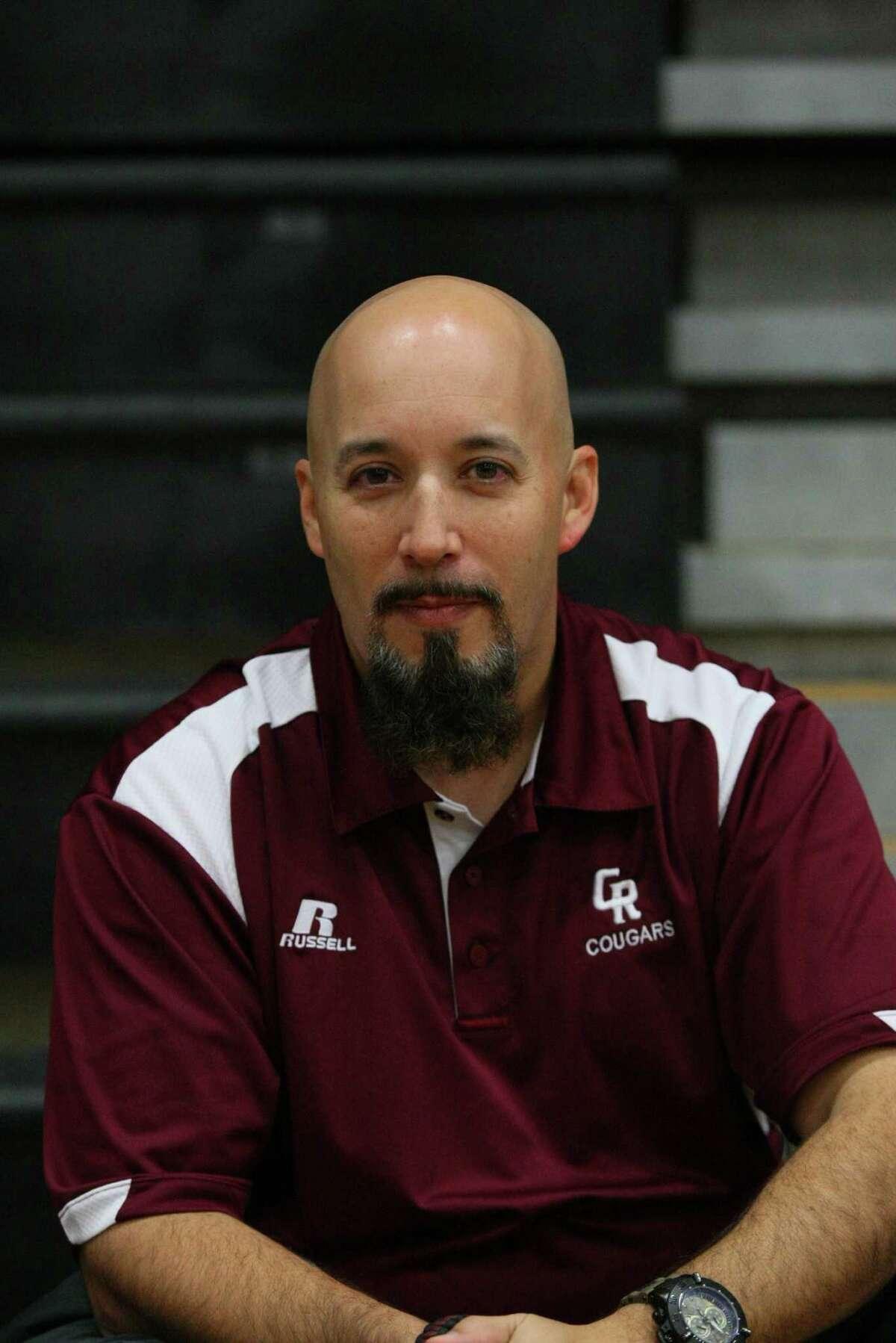 Cinco Ranch head coach Carlos Villafone