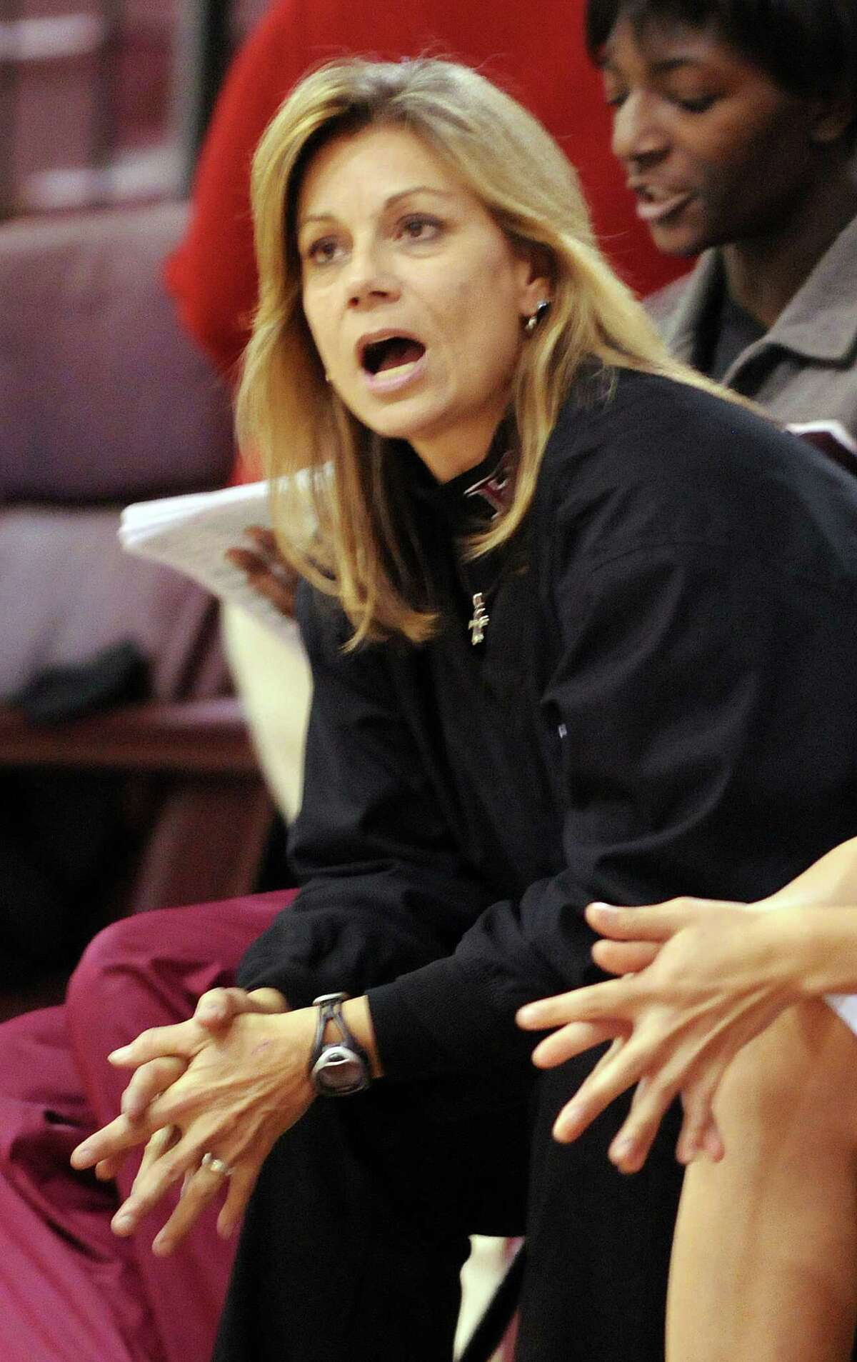 Pearland head girls basketball coach Donna Vacek has the Oilers in rebuilding mode this season.