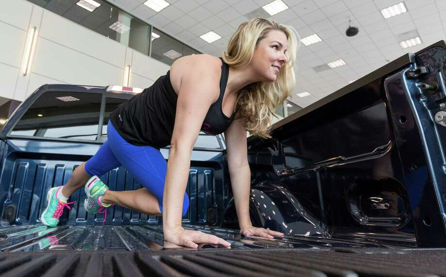"When it's time to start truckin' it on your cardio routine, this Houston-area fitness trainer has got a plan to set you in motion.Using only the truck -- from the tailgate to the running boards -- Cari Shoemate, owner of Bombshell Bootcamp, came up with the workout program at the request of Nik Ciccone, who works for Ford Motor Company in Houston.   ""The only equipment is the truck. So I had to create a workout that is 