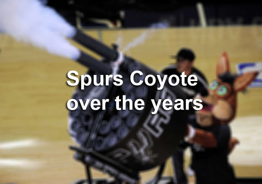 Spurs Coyote over the years. Photo: Darren Abate, Express-News File Photo / FR115 AP