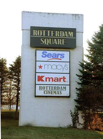 Sign at entrance for Rotterdam Square Mall on Friday, Nov. 21, 2014 in Rotterdam, N.Y. (Lori Van Buren / Times Union) Photo: Lori Van Buren / 00029603A