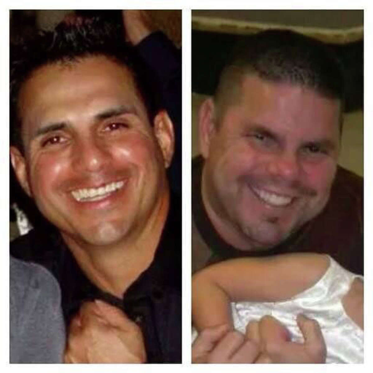 """DuPont employees and brothers, Robert Tisnado, left, 39 and Gilbert """"Gibby"""" Tisnado, right, 48, died in the DuPont La Porte chemical leak Saturday. (Family Photos)"""
