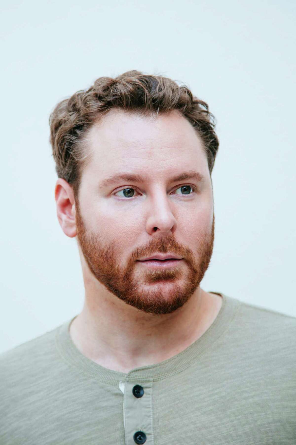 Sean Parker poses for a portrait at his home in Beverly Hills, California.