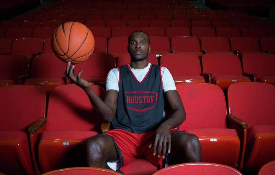 Devonta Pollard, a former McDonald's All-American, sits at The University of Houston, Wednesday, Nov. 19, 2014, in Houston.  Last year, Pollard had to testify against his own mother in a kidnapping case. (Cody Duty / Houston Chronicle) Photo: Cody Duty, Staff / © 2014 Houston Chronicle