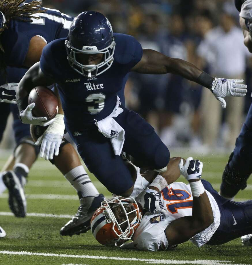 Jowan Davis (3) led Rice with 956 rushing yards in 2014. Photo: Karen Warren, Houston Chronicle