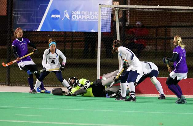 Images from the 2014-15 NCAA Division 1 Field Hockey Championships. The second semifinal of the day saw the UConn Huskies and the Albany Great Danes. Photos by Keith Lucas c.Sideline Media Productions Photo: Sideline Media Productions/Keith Lucas