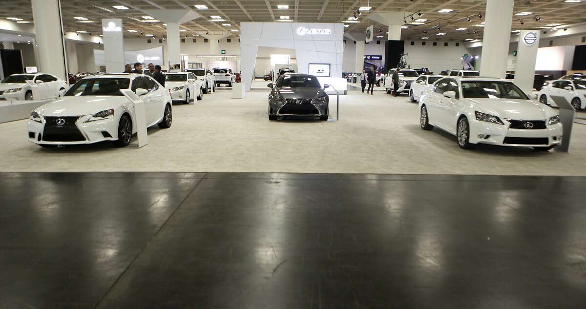 A display for Lexus at the SF Auto Show in the Moscone Center in San Francisco, Calif., on Friday November 21, 2014.
