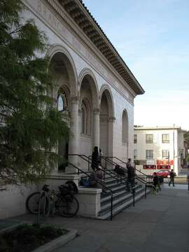 The Sunset branch of San Francisco's public library was built in 1918, one of seven financed all or in part by money from steel tycoon Andrew Carnegie. The architect was G. Albert Lansburgh. It reopened in 2007 with an update by Fougeron Architecture.
