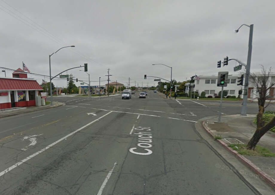 A drunk driver was involved in a fatal hit-and-run crash on Couch Street near Redwood Street in Vallejo. Photo: Google Maps
