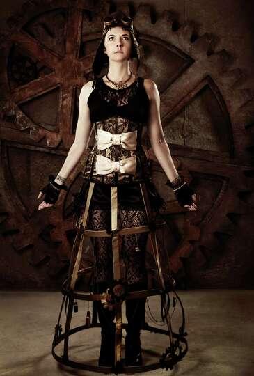 Woman in Steampunk Fashion