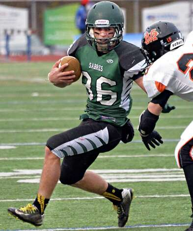 Schalmont QB Nick Gallo runs the ball during the Class B semifinal against Marlboro at Dietz Stadium Saturday Nov. 22, 2014, in Kingston, NY.  (John Carl D'Annibale / Times Union) Photo: John Carl D'Annibale / 00029582A