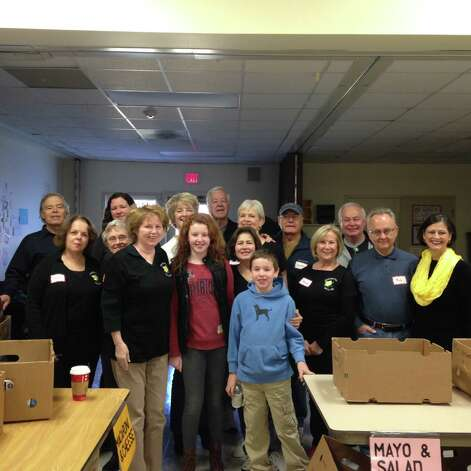 Members of the Clifton Park chapter of Beta Sigma Phi International Sisterhood volunteer, with their husbands and others, at the United Methodist Church?s Food Pantry in Jonesville. Area Boy Scouts collected non-perishable food, then delivered it to the pantry, where the chapter members sorted the items for storage. Attached is a photo at the Food Pantry.In addition, Ann Deitz, chapter service chairperson, will be delivering a Thanksgiving food basket to the Saratoga Women?s Domestic Violence & Crisis Services. The chapter also participates in the Empty Stocking Project through Saratoga County Children?s Committee by providing Christmas gifts to two local girls in need.