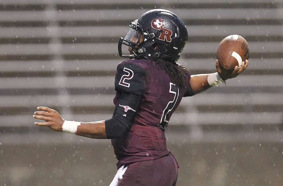 George Ranch quarterback Timon Nolan fires off a pass as the Longhorns hosted Kingwood Park  in the 5A Region III Playoffs at the Berry Center on November 22, 2014. Photo: Diana L. Porter, Freelance / © Diana L. Porter