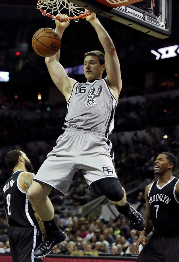 Aron Baynes isn't always first and foremost in a Spurs fan's mind, but we wanted to remember his birthday. So happy 28th birthday, Aron. Here are 28 tweets that show how adorable the Spurs forward-center is. Photo: Edward A. Ornelas, By Billy Calzada/Express News / © 2014 San Antonio Express-News