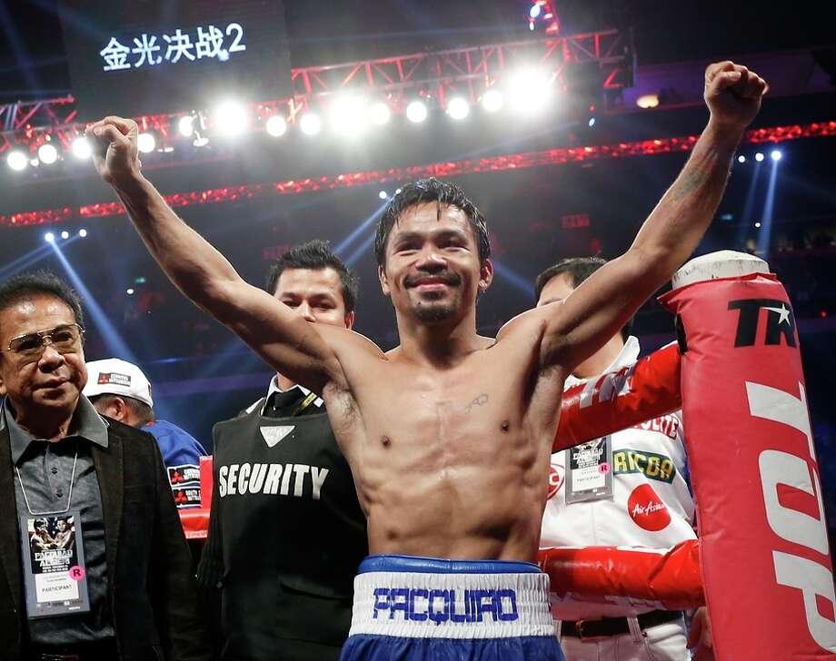 Manny Pacquiao's last fight was a win over WBO junior welterweight champion Chris Algieri in Macau in November. Photo: Kin Cheung / Associated Press / AP