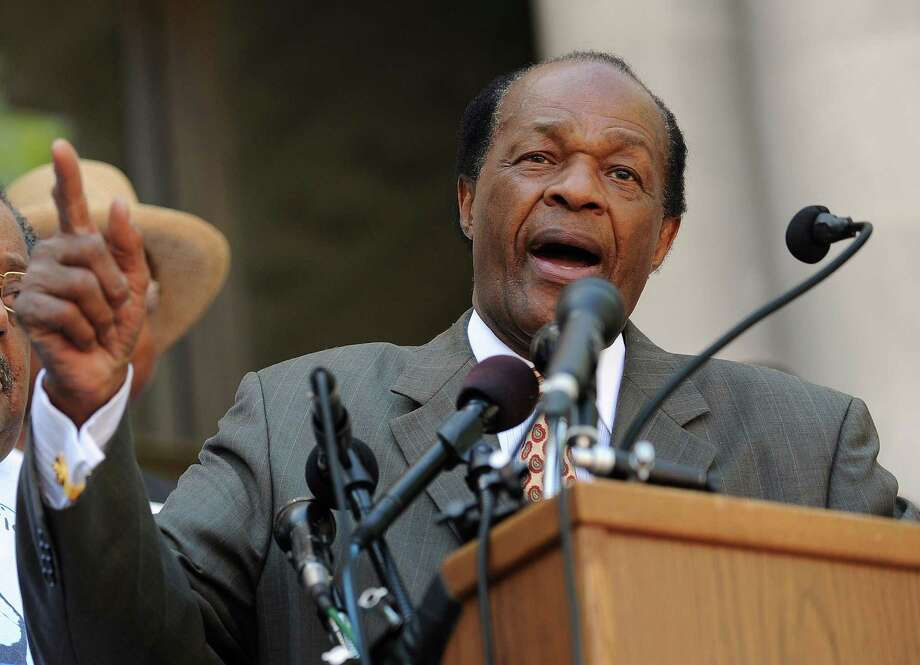On May 4, 2010, Council Member Marion Barry spiritedly opposes an act that would strip D.C. of local control over its gun laws at city hall. Photo: TIM SLOAN, Staff / AFP