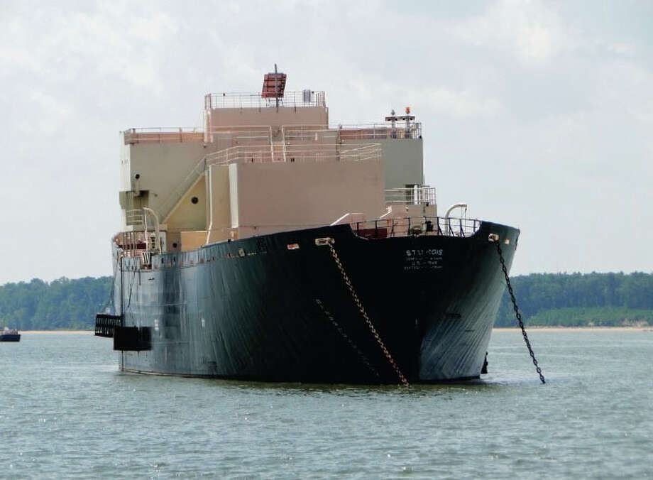 A World War II-era Liberty ship converted to a barge-mounted nuclear reactor will be towed from Virginia to Galveston to be scrapped. Photo: Billy Smith II, Staff / © 2014 Houston Chronicle