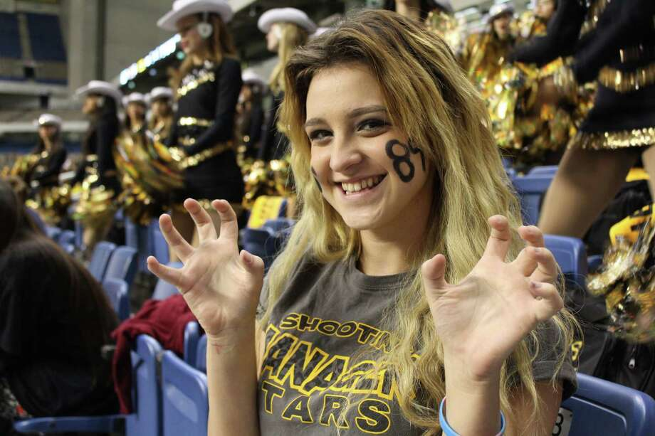 Not only did the Steele Knights and Brennan Bears face off in the Alamodome Saturday night for a huge playoff game, their fans brought the noise for our pre-game mySpy. Photo: By Yvonne Zamora, For MySA.com