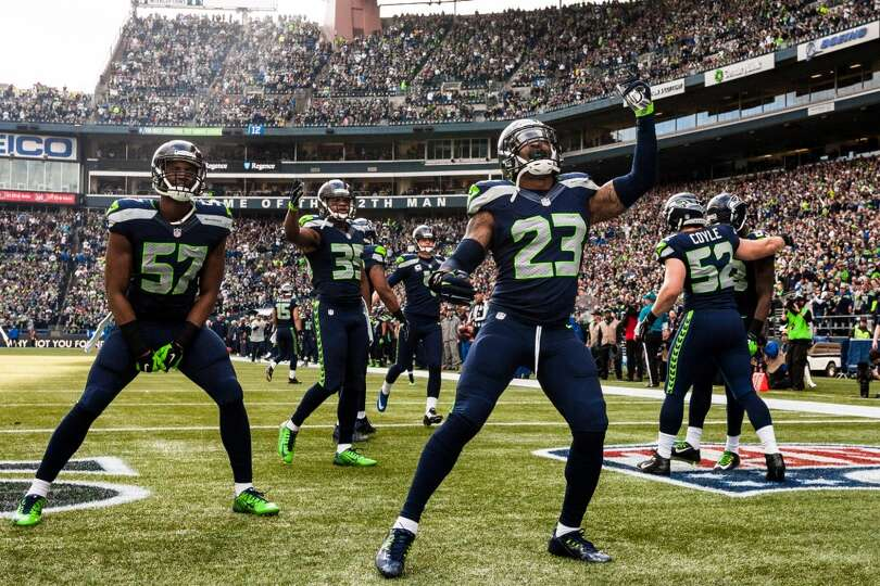 Seahawks Players Photos Seahawks Players Hype up The