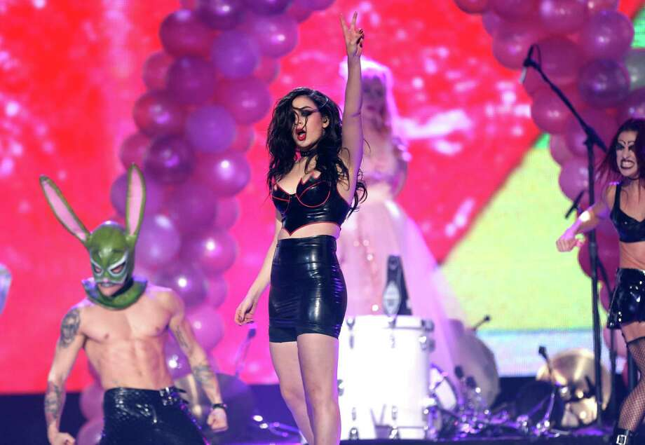 Charli XCX performs on stage at the 42nd annual American Music Awards at Nokia Theatre L.A. Live on Sunday, Nov. 23, 2014, in Los Angeles. Photo: Matt Sayles, AP / Invision