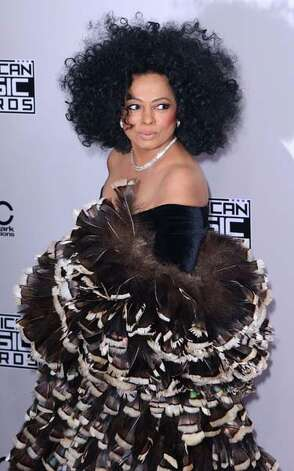 Diana Ross is roasting seven turkeys for Thanksgiving, and she's the only person who is allowed to humiliate her turkeys first by wearing them to a black tie event. Photo: C Flanigan, Getty Images / 2014 C Flanigan