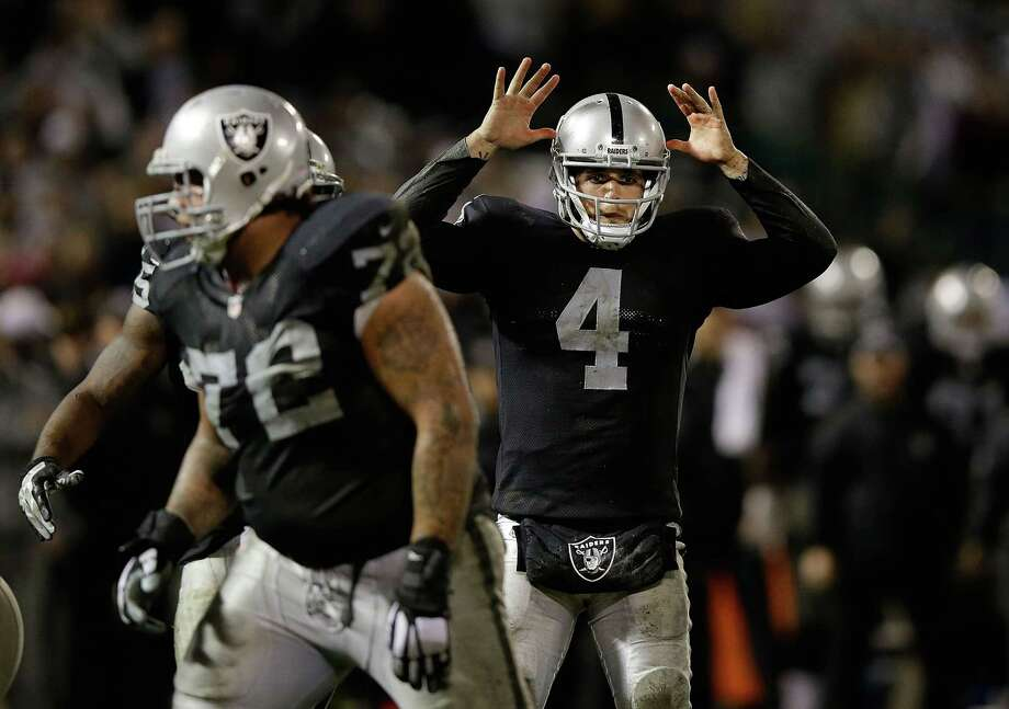 On Sunday, the San Francisco Chronicle and NFL.com reported the Raiders are expected to sign a one-year lease to remain in Oakland. Photo: Ezra Shaw, Getty Images / 2014 Getty Images