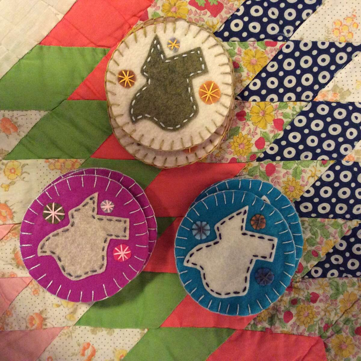 Pancho and Leftey's Dena Yanowski, a lifelong Houstonian, celebrates her city with her crafts. The most famous among them are Astrodome-shaped Christmas ornaments. Sheéll be offering those as well as pillows, coasters and other felt creations at the Pop Shop Houston Holiday Festival Nov. 28-30, 2014.