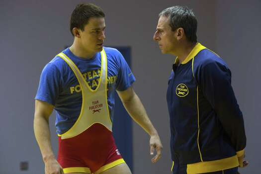 """Foxcatcher""IMDb: 7.8/10Review by Mick LaSalle: 'Foxcatcher' wrestles with small storyThree starsThere is a fundamental miscalculation at the heart of ""Foxcatcher,"" an assumption that the tale being told is an Important American Story. It's not. It is a curious story, and a mildly interesting one, but not one with big reverberations, not one that says something about the country or modern life. Inflating the tale beyond its natural scale only makes it feel trivial, like a fuss built around a minor incident. Photo: Scott Garfield, HONS / Sony Pictures Classics"
