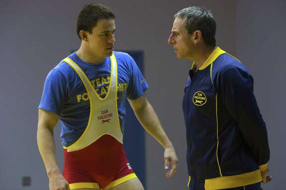 """Steve Carell, right, and Channing Tatum star in """"Foxcatcher."""""""