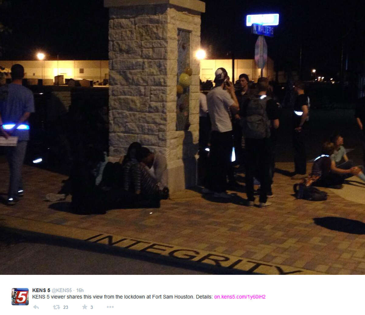 """Officials with Joint Base San Antonio-Fort Sam Houston have detained a """"local"""" college student following a lockdown at Fort Sam Houston on Sunday."""