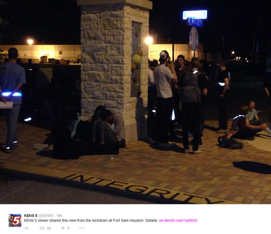 """Officials with Joint Base San Antonio-Fort Sam Houston have detained a """"local"""" college student following a lockdown at Fort Sam Houston on Sunday. Photo: Twitter"""
