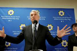 District Attorney George Gason described some of the horrific attempts to evict tenants at the press confernce Wednesday June 19, 2013. Assistant D.A. and prosecutor  Kelly Burke is at right. San Francisco District Attorney George Gascon announced that Kip and Nicole Macy, the so-called landlords from hell, had plead to several felony counts that will put them in prison for over four years for trying to evict tenants from their South of Market building.