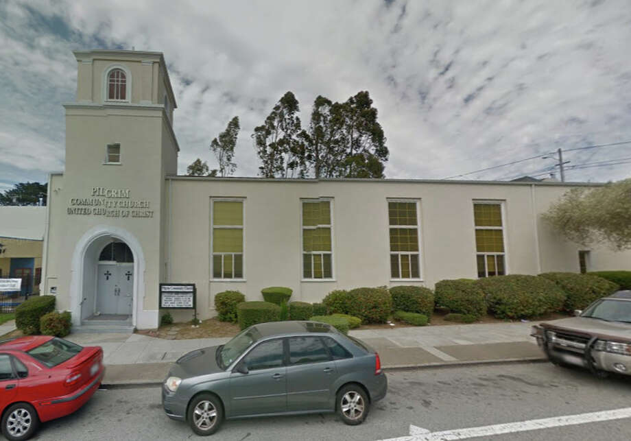 John Hugo Scherzberg poured gasoline on the front door of the Pilgrim Community Church in San Francisco Sunday evening. Photo: Google Maps