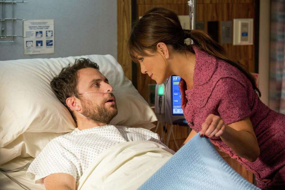 """Charlie Day as Dale Arbus and Jennifer Aniston as Dr. Julia Harris, D.D.S. in New Line Cinema's comedy """"Horrible Bosses 2,"""" a Warner Bros. Pictures release. (John P. Johnson/Warner Bros./TNS) Photo: John P. Johnson, HO / McClatchy-Tribune News Service / Warner Bros."""