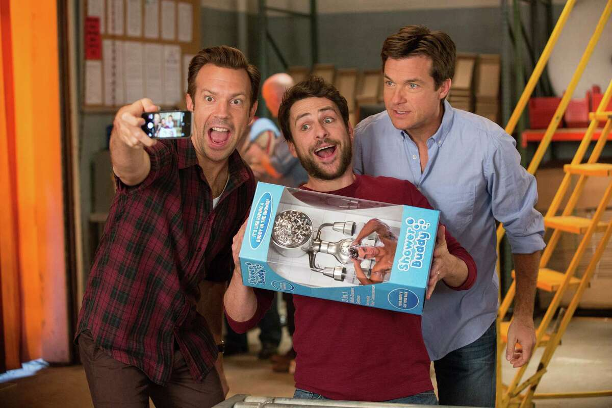 """""""Horrible Bosses 2"""": The first joke is that the hapless heroes of the original - Jason Bateman, Jason Sudeikis and Charlie Day - are now the horrible bosses. To keep their shower accessory business from going down the drain, they hatch a kidnapping scheme. The plot, probably borrowed from some other movies, doesn't matter but it does add Christoph Waltz and Chris Pine to the mix. Like the original, this movie's appeal -as far as it goes - is the verbal slapstick of three stooges trying to pull off an imperfect crime. And Jennifer Aniston talking dirty. (Available to rent and buy.)"""