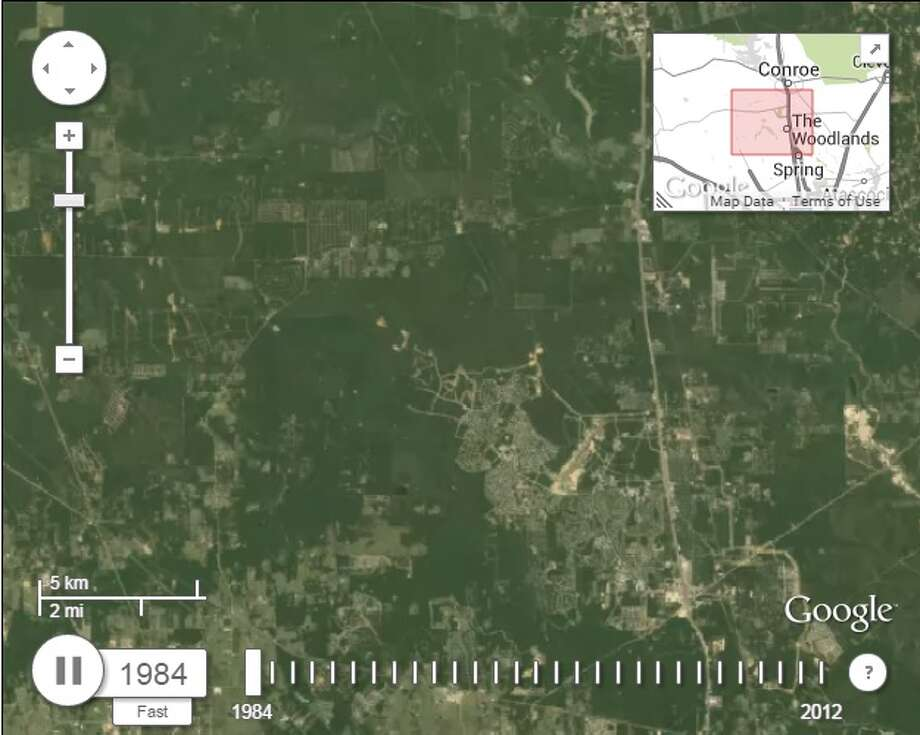 Here's the view of The Woodlands in 1984, 10 years after its foundation. Photo: Google Maps