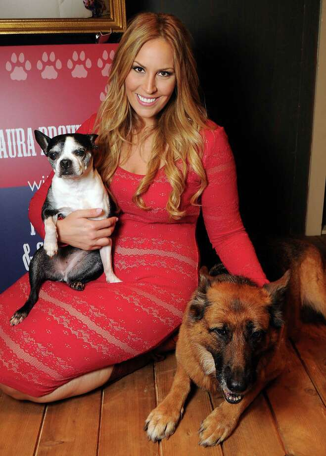 November: Laura McIngvale Brown with Paris and Sarah at the Citizens for Animal Protection's Paws Over Texas gala.  Photo: Dave Rossman, Freelance / © 2014 Dave Rossman